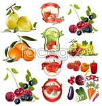 Link toFruits vegetables vector