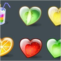 Link toFruity hearts icons icons pack