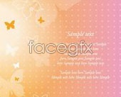 Link toFull of fantastic colours butterfly background vector