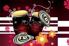 Link toFull of local conditions and customs of mexico tambourine vector