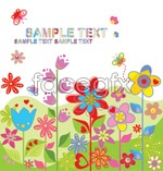 Link toFun and cute flowers vector