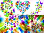 Link toFun butterfly illusion background vector