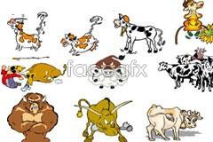 Link tovector cow cartoon Fun