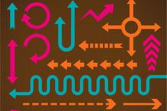 Link toFun colored arrows design vector