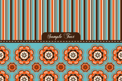 Link toFun flowers striped background vector