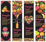 Link toFun fruit banner vector