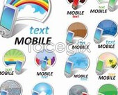 Fun mobile phone vector