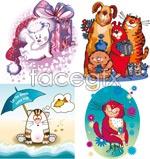 Link toFunny cartoon animals vector