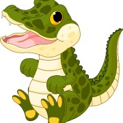 Link toFunny cartoon baby crocodile vector free