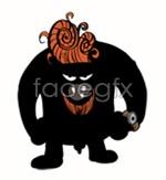 Link toFunny cartoon bull vector