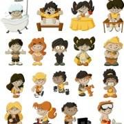 Link toFunny cartoon child design vectors