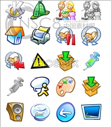 Link toFunny cartoon computer icons