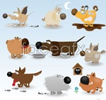 Link toFunny cartoon dog vector