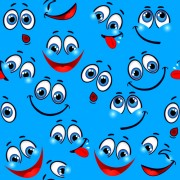 Link toFunny cartoon face pattern vector graphic free