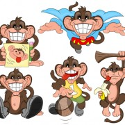 Link toFunny cartoon monkey vector icons vector and photoshop brushes free