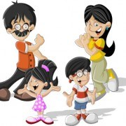 Link toFunny cartoon people illustration 02 vector