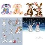 Link toFunny cartoon rabbit vector