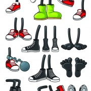 Link toFunny cartoon shoes vector graphics free