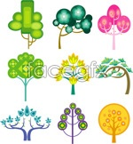 Link toFunny cartoon tree vector