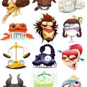 Link toFunny cartoon zodiac design vector free