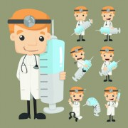 Link toFunny doctor character vectors graphics 01 free