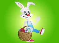 Link toFunny easter bunny vector free