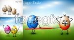 Link toFunny eggs vector