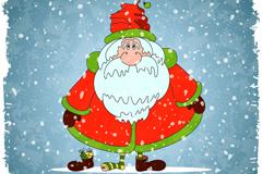 Link toFunny santa snow vector illustration