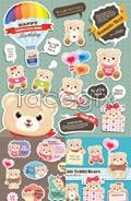 Link toFunny teddy bears vector