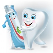 Link toFunny tooth with toothpaste vector graphic free