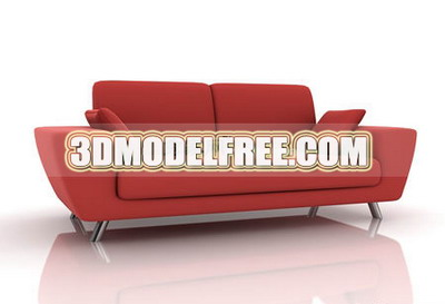 Link toFurniture 3d model: red upholstered couch 3dmodelfree