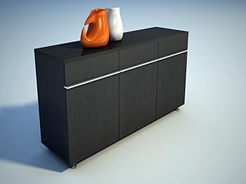 Link toFurniture 3ds max model: black vestibule cabinet 3ds max model
