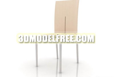 Link toFurniture 3ds max model: long back chair