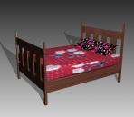 Link toFurniture - beds a018 3d model