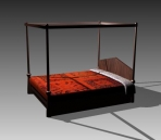 Furniture – beds a028 3d model