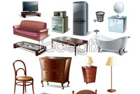 Link toFurniture electrical appliances vector