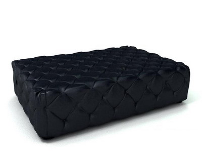 Link toFurniture model: black fabric ottoman 3ds max model
