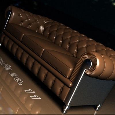 Link toFurniture model: brown leather sofa 3ds max model