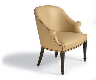 Link toFurniture model: creamy victorian leather armchair 3d model