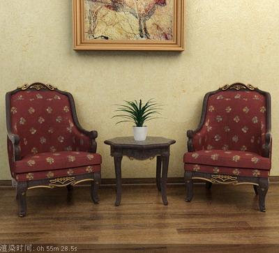Link toFurniture model: victorian fabric armchair 3d model