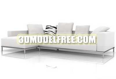 Link toFurniture model: white modernism chesterfield 3ds max model