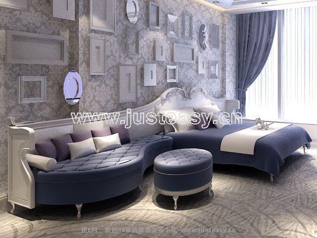 Link toFurniture sofa and bed 3d model (including materials)