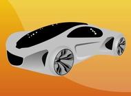 Link toFuturistic car vector free