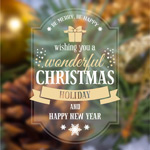 Link toFuzzy christmas greeting cards vector