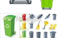 Link toGarbage can clean tools vector graphics