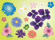 Link toGarden flowers vector free