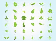 Link toGarden leaves vector free