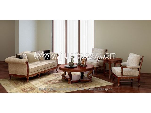 Link toGarden-style sofa combination 3d model