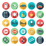 Link toGas station icons vector