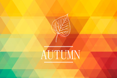 Link toGeometric abstract autumn background vector